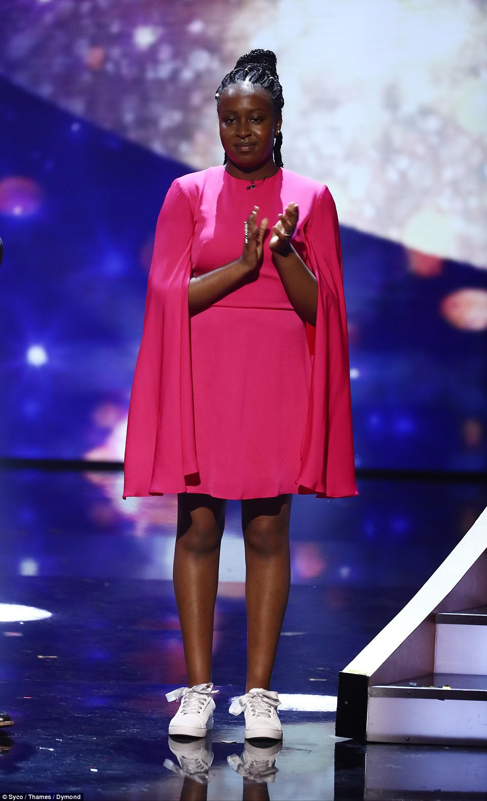 Songstress:The judges' wild card - who was picked to appear in the final after not getting enough votes to progress from the semi-finals - was Sarah Ikumu who wowed with her rendition of Andra Day's Rise Up