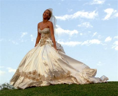 Although this isn't her actual wedding dress, Beyonce wore