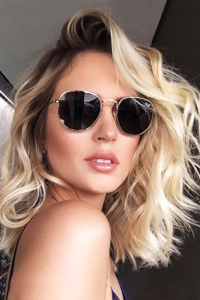Hair Color 2017/ 2018 - Creamy Blonde Hair With Dark Roots ...