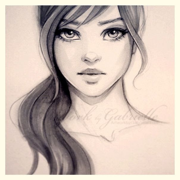 605x605 cute drawings of girls with long hair COLORING PAGES Pinterest