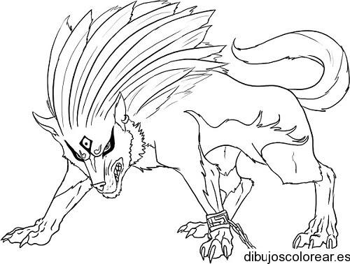 Dibujo De Un Lobo Feroz