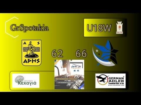 Στιγμιότυπα από τον χθεσινό αγώνα νεανίδων Αρης-Αστέρας Ιπποδρομίου Μαντουλίδης 62-66