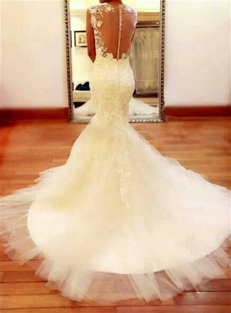 Open back, lace, mermaid wedding dress   Wedding   Pinterest