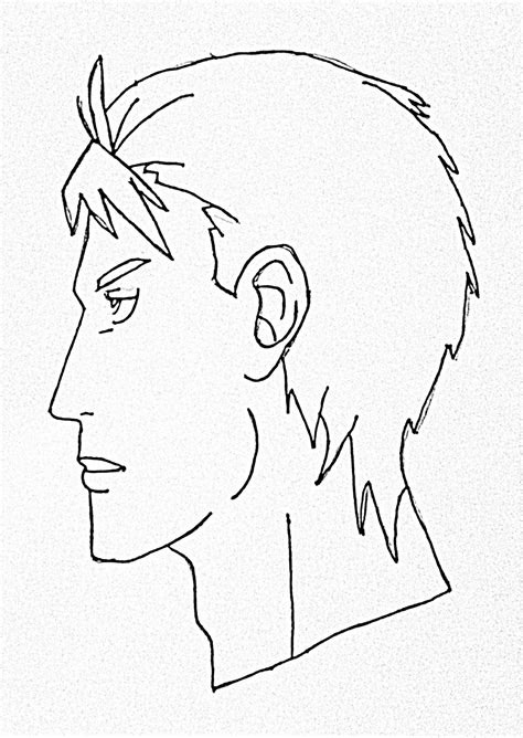 draw male anime face side view step  step