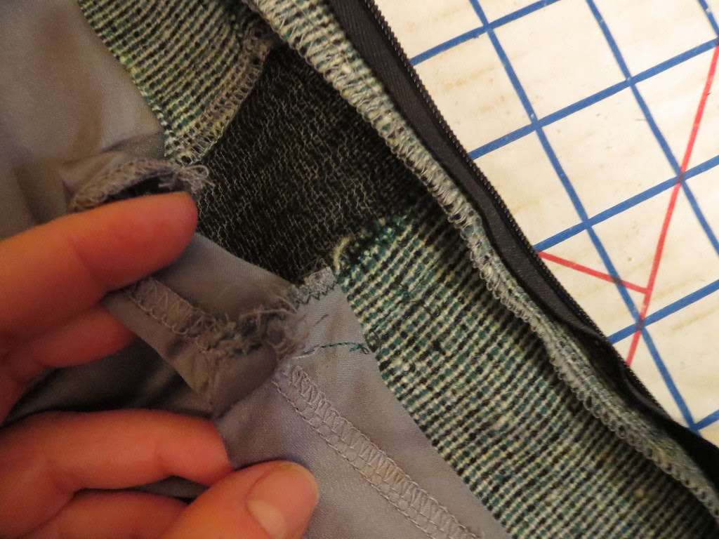 Lining Free From Fashion Fabric at Midriff