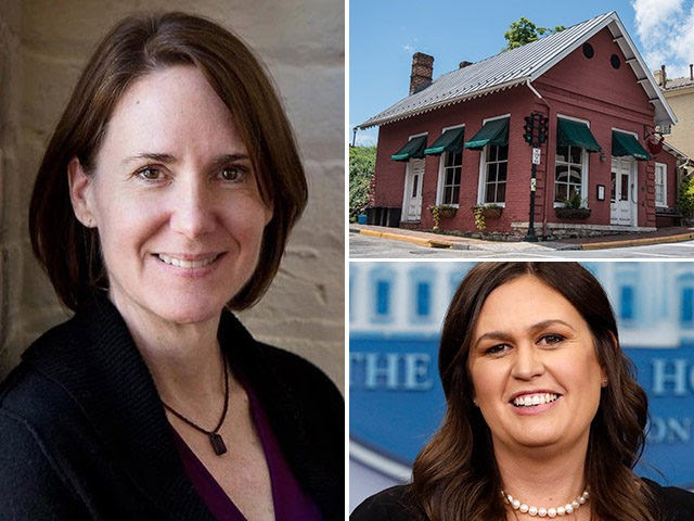 Stephanie Wilkinson, owner of The Red Hen restaurant in Lexington, Virginia. Wilkinson made national headlines for kicking out WH press secretary Sarah Huckabee Sanders and reportedly harassing her family at another restaurant.
