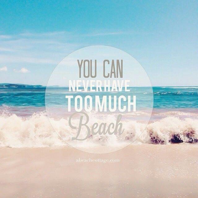 Life is a beach. Summer quote. Beach life.