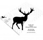 Caribou Silhouette Yard Art Woodworking Pattern - fee plans from WoodworkersWorkshop® Online Store - caribou,ungulates,animals,wildlife,african,yard art,painting wood crafts,scrollsawing patterns,drawings,plywood,plywoodworking plans,woodworkers projects,workshop blueprints