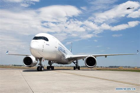Airbus A350 lands safely from test flight in S. France