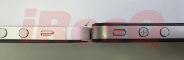 Imagem em close mostra o quanto o iPhone 5 é mais fino (Foto: Reprodução)