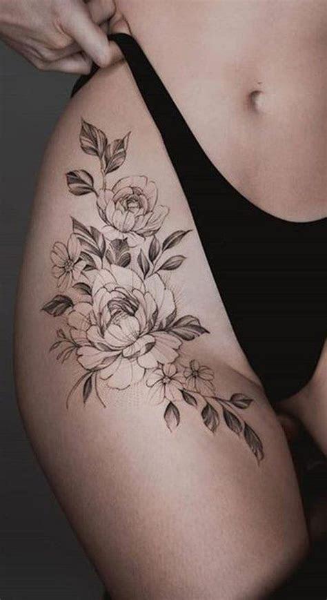 women tattoo trending thigh tattoo ideas