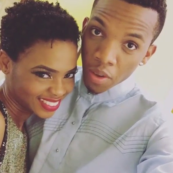 Chidinma Ekile Cozying Up To Tekno On Set (Pictured)