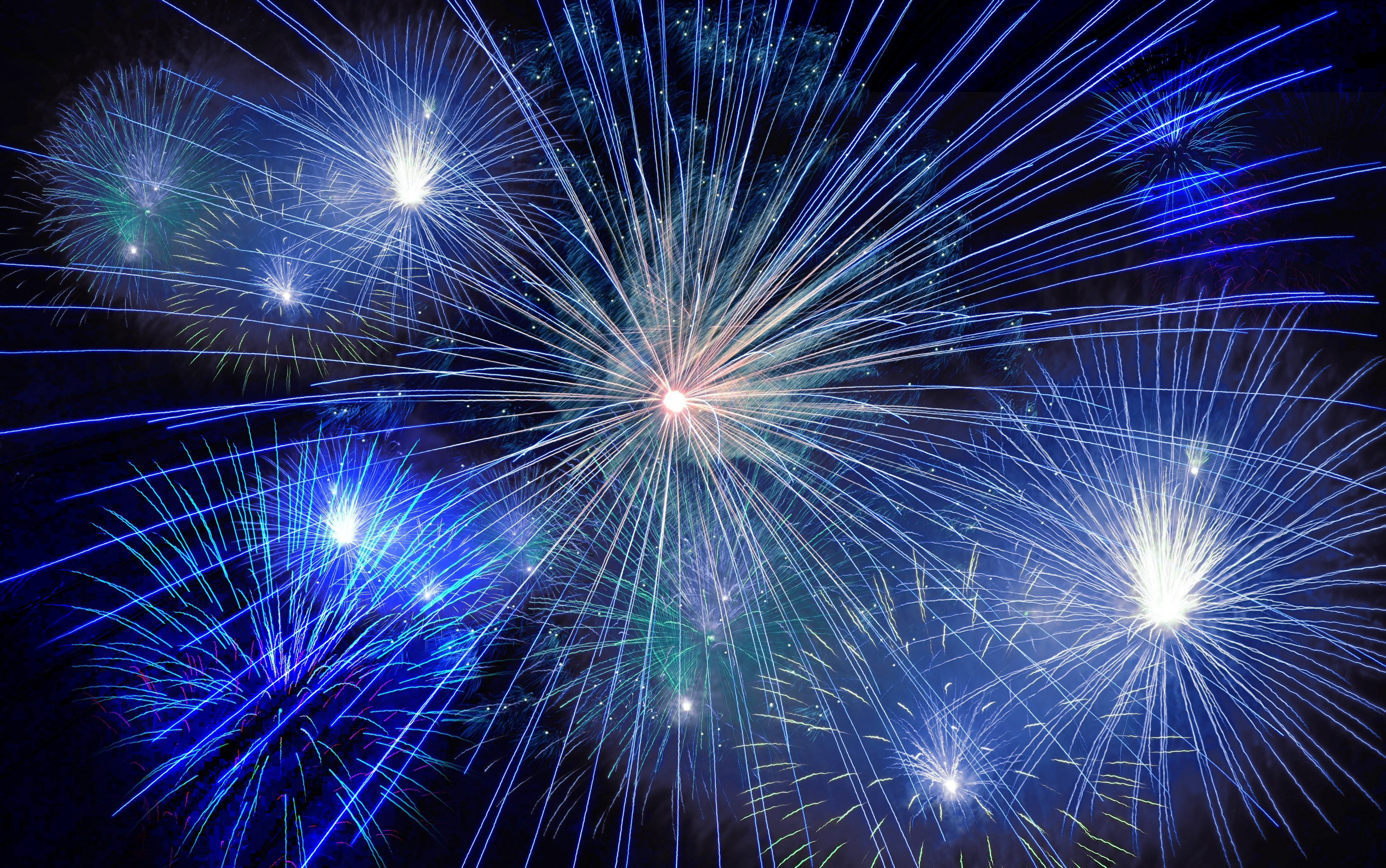Fireworks Rocket New Years Day New Years Eve 4k Wallpaper And