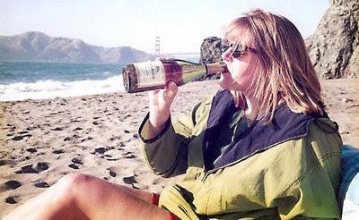 my love drinking wine SF