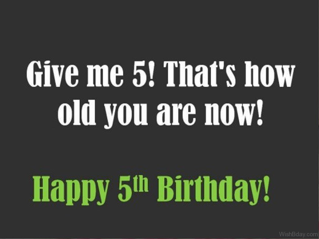 52 5th Birthday Wishes