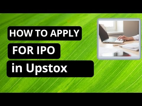 How to apply for IPO in Upstox