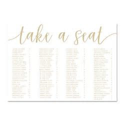 Paper Halo   Wedding Seating Charts