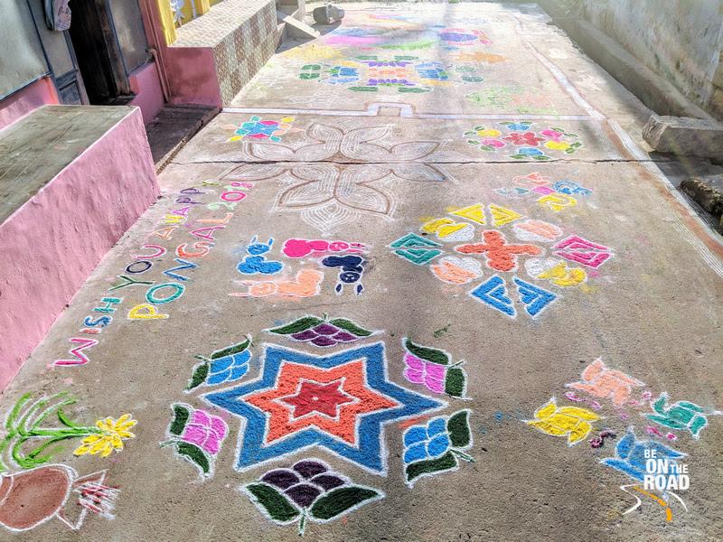 Colorful Kollam or Rangoli to celebrate Pongal 2018