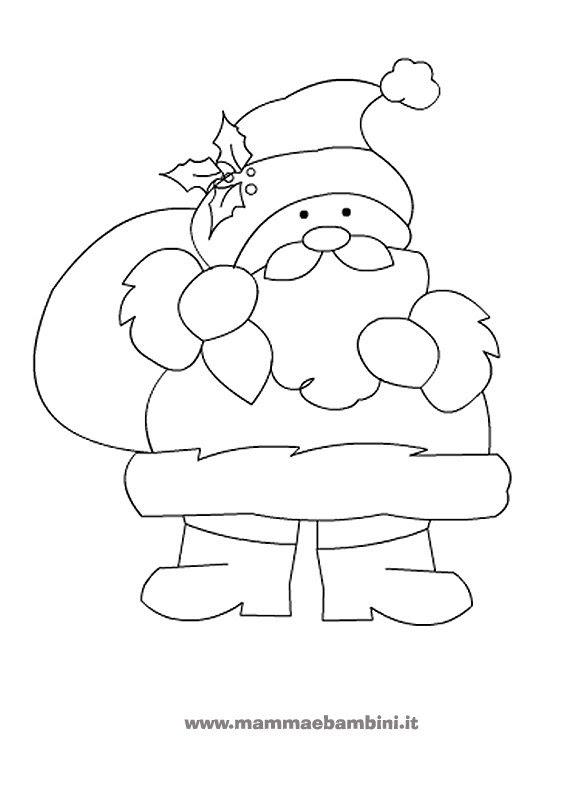 Stampaecoloraweb Babbo Natale Disegno Facile Da Colorare
