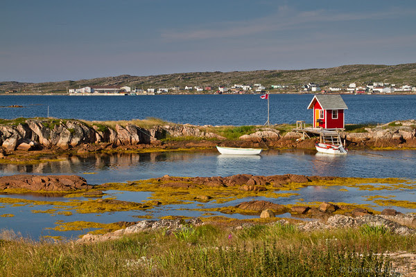 fishing shack and boats, Joe Batt's Arm, Newfoundland