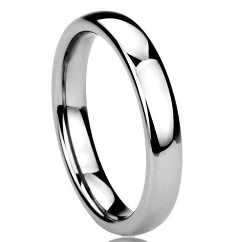 Women's 4MM Titanium Comfort Fit Wedding Band Domed Ring