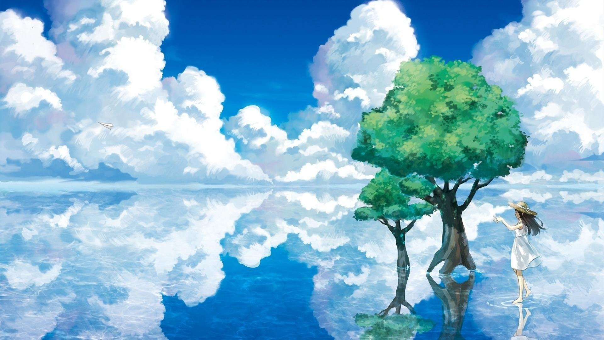 700 Wallpaper Hd Anime Nature  Terbaik