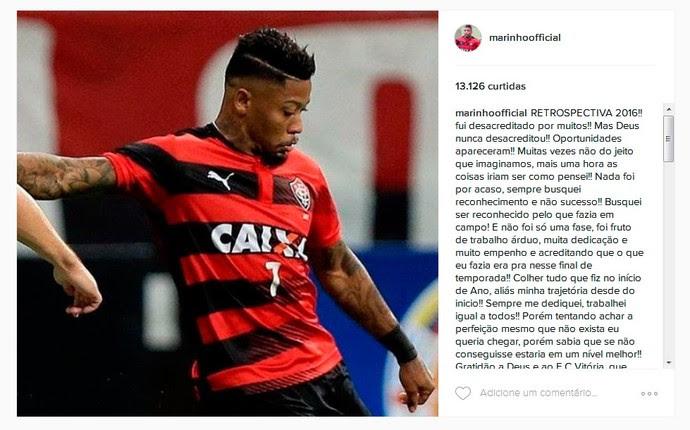 Marinho; Instagram; Vitória (Foto: Reprodução)
