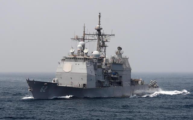 La Marina de EE.UU. disparó dos misiles Raytheon Company Estándar-6 interceptores de la USS Chancellorsville, participar exitosamente dos objetivos de misiles de crucero (BQM-74 drones) en el primer escenario de prueba del misil más allá del horizonte en el mar. El SM-6 ofrecerá marineros de la Armada de Estados Unidos y sus buques de protección extendida gama contra los aviones fija y helicópteros, vehículos aéreos no tripulados y misiles de crucero como parte de la Naval de Control Integral del Fuego - Contador zona de la misión aérea (NIFC-CA).