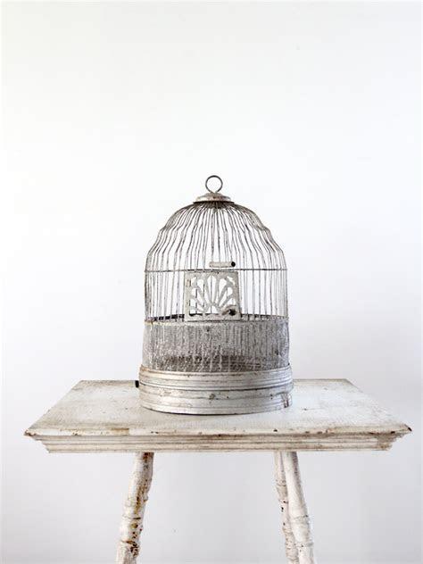 Antique Birdcage / Silver Metal Bird Cage