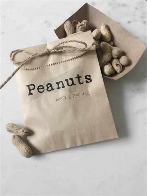 Hot Peanuts Wedding Snack Bag Favor   SALTED Design Studio
