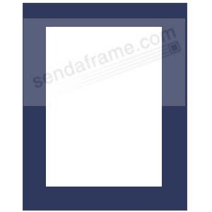 Navy Blue Matbrfits 11x14 Frame Displays 8x10 Print Picture