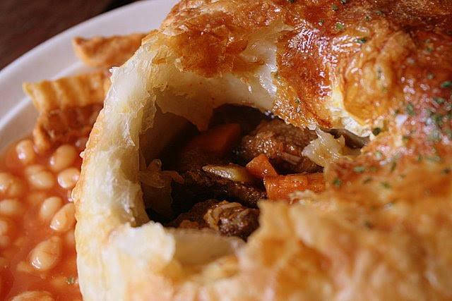 Steak but not much Guinness in the pie