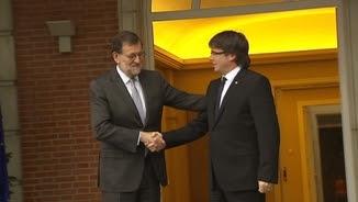 Rajoy i Puigdemont, a les escales de la Moncloa
