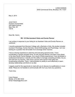 Hospitality Tourism Cover Letter Samples