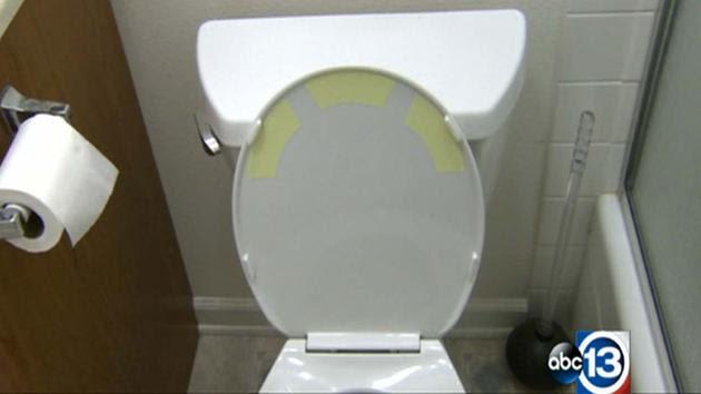 Toilet stickers to take off?