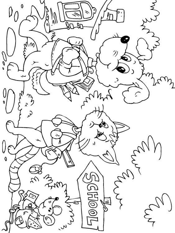 Dibujo Para Colorear De Camino Al Colegio Img 22687