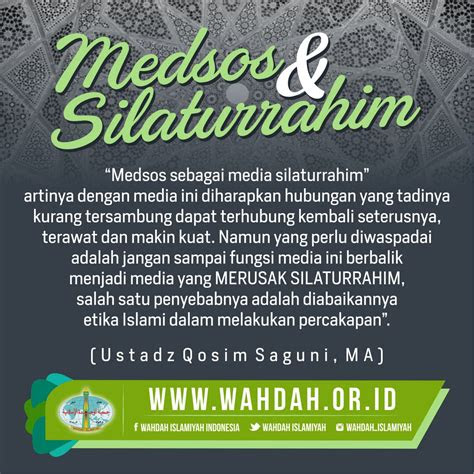 medsos  silaturrahim wahdah islamiyah