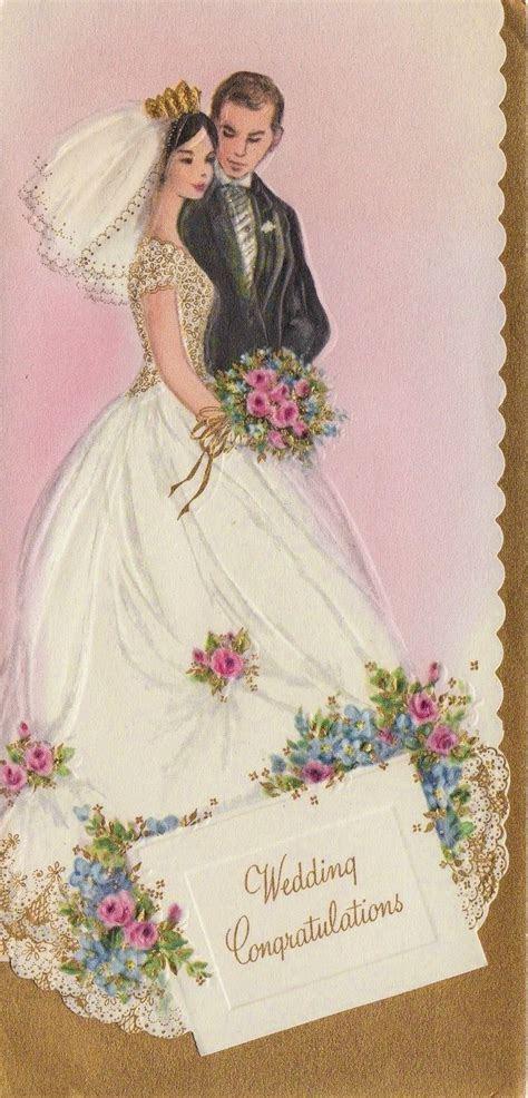 Vintage wedding congratulations card we actually had a