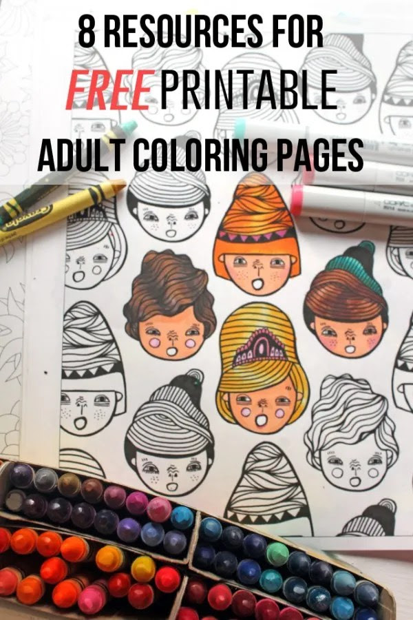 8 Resources and Free Printables for Adult Coloring - Indie ...