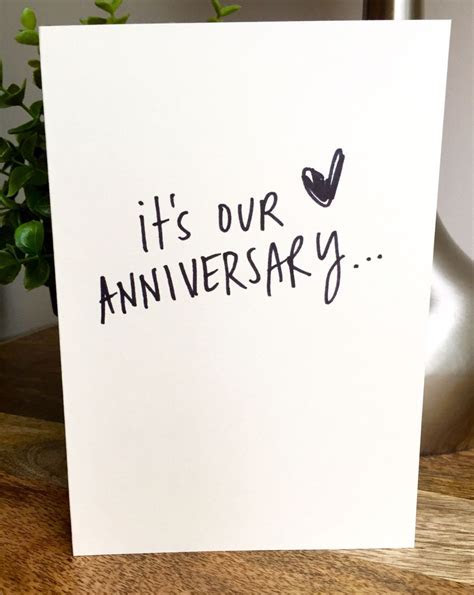 One Year Anniversary Card for husband, Paper Anniversary
