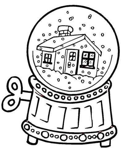 Disegno Di Carillon Con Neve Da Colorare Disegni Da Colorare E