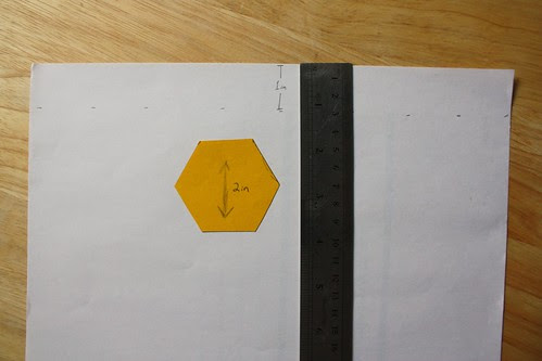 Step 2: Mark a 1-in Fold Line on Paper