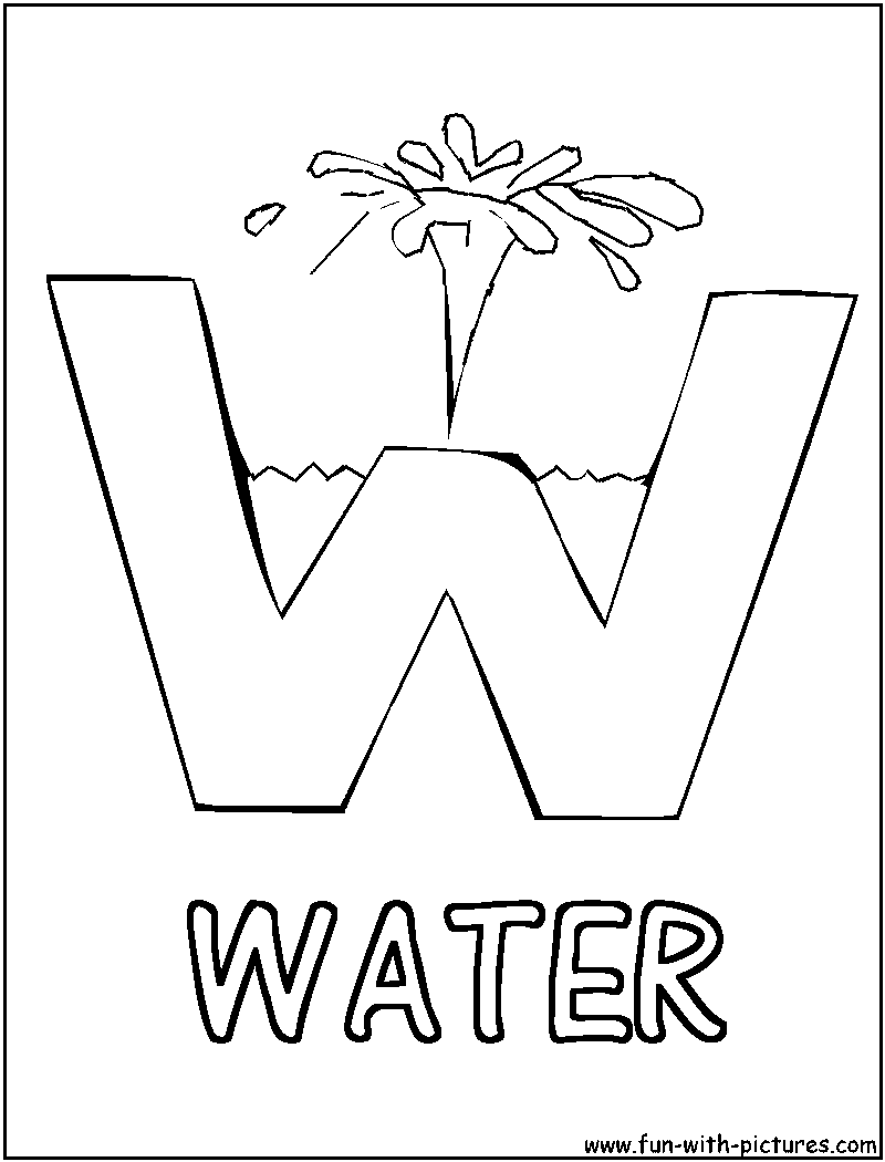 Water Conservation For Kids Coloring Pages - Coloring Home