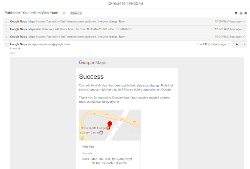 Changing Hours...Fails to submit correctly. - Google Maps Help on world time map, google time clock, zong time map, google maps street view 2012, google time logo, nist time map, tv time map, google time diagram,
