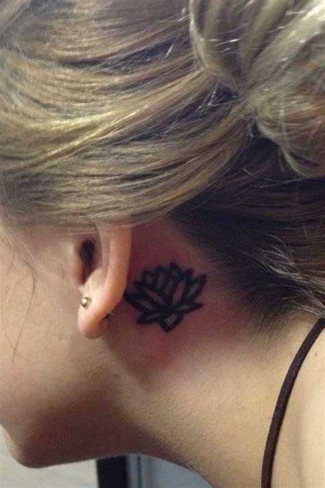 lotus flower tattoo   ear   lotus