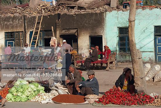 Sunday Market, Kashgar, Xinjiang Province, China, Asia                                                                                                                                                   Stock Photo - Direito Controlado, Artist: Robert Harding Images    , Code: 841-03028844
