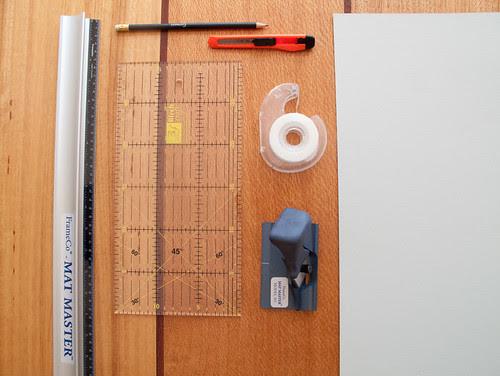mat board cutting tutorial