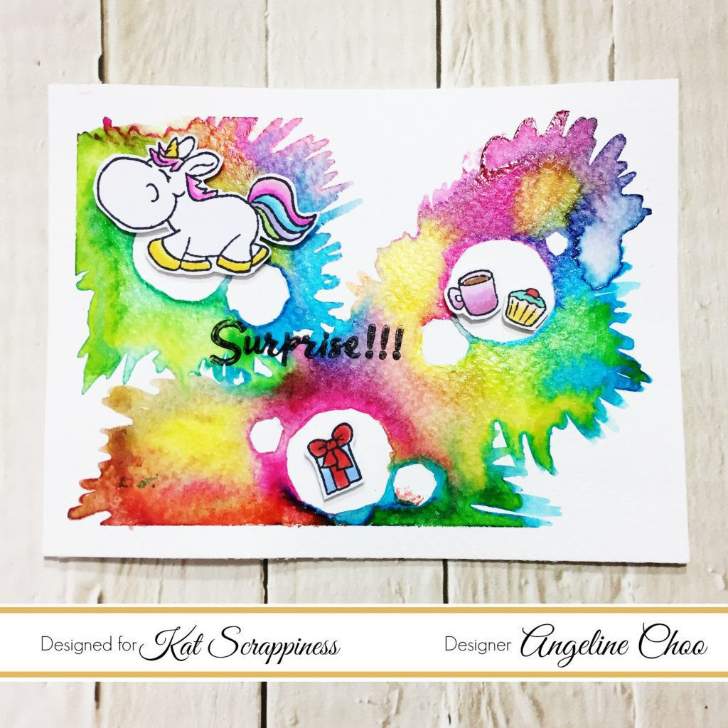 ScrappyScrappy: Unicorn Color Burst with Kat Scrappiness #scrappyscrappy #katscrappiness #kenoliver #gerdasteiner #moodyunicorns #liquidmetals #preciousalloys #colorburst #rainbow #ombre #unicorn #card #cardmaking #papercraft #stamp #stamping #scrapbook #scrapbooking #craft #crafting #watercolor #watercolorpainting #copic