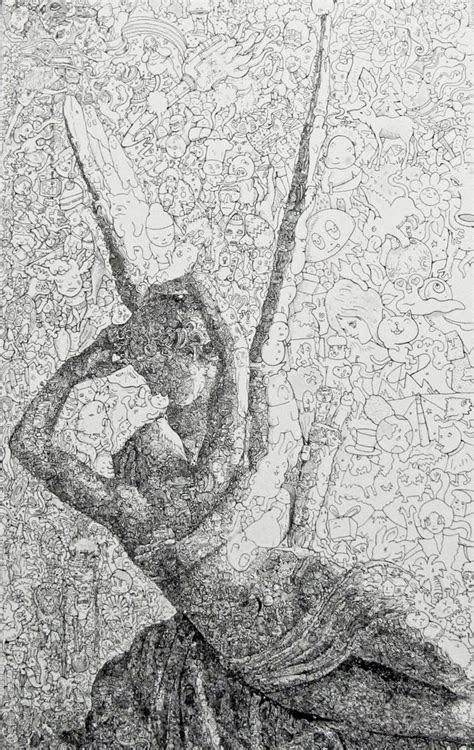 maddeningly complex doodle drawings  sagaki keita