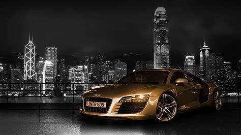 Audi R8 ciudad noche   Fondos HD